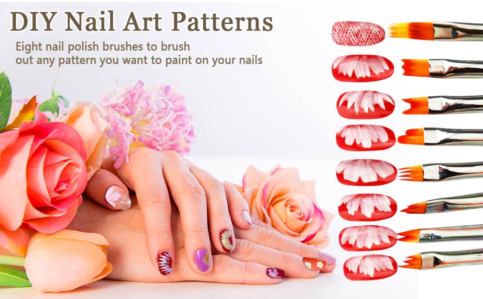 flower nail art brushes, Nail Brushes