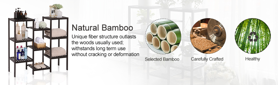 bamboo storage shelf