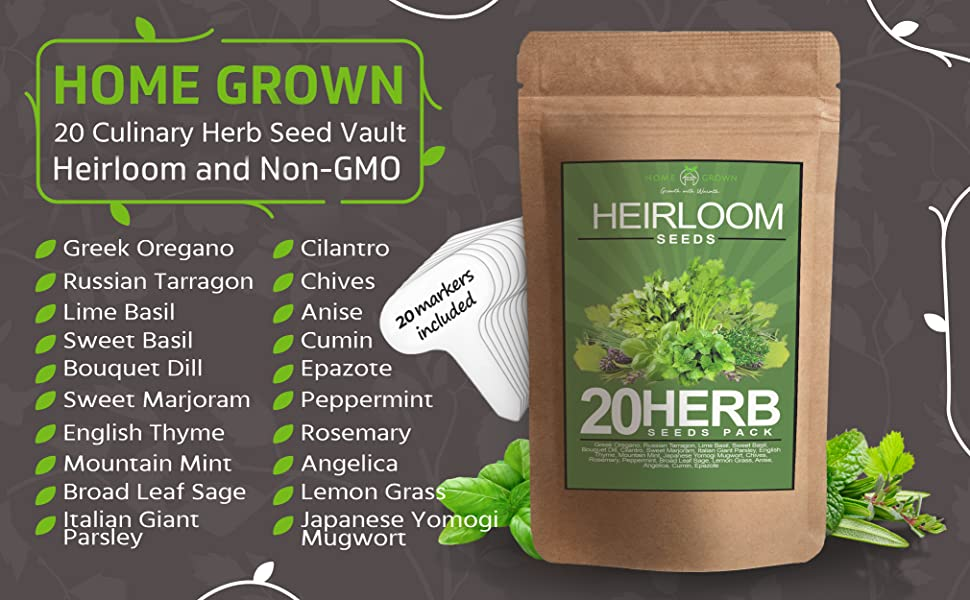 herbs, seeds, non-gmo, basil, garden, herb garden, indoor garden, food, heirloom, heirloom seeds