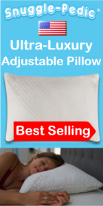 Best Pillow Memory Foam Bamboo Shredded Down Like Fill Support Side Sleeping Back Stomach Neck Bed