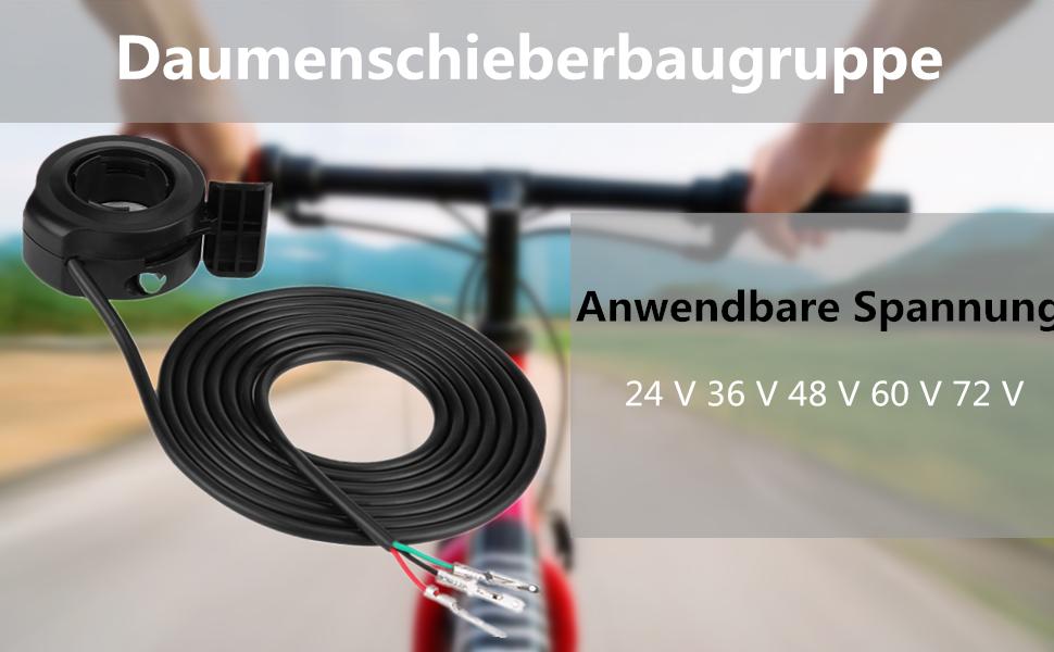 Daumengas 7 8 Universal Daumengas Drehzahlregler Für E Bike Roller Beschleuniger 22mm Baumarkt