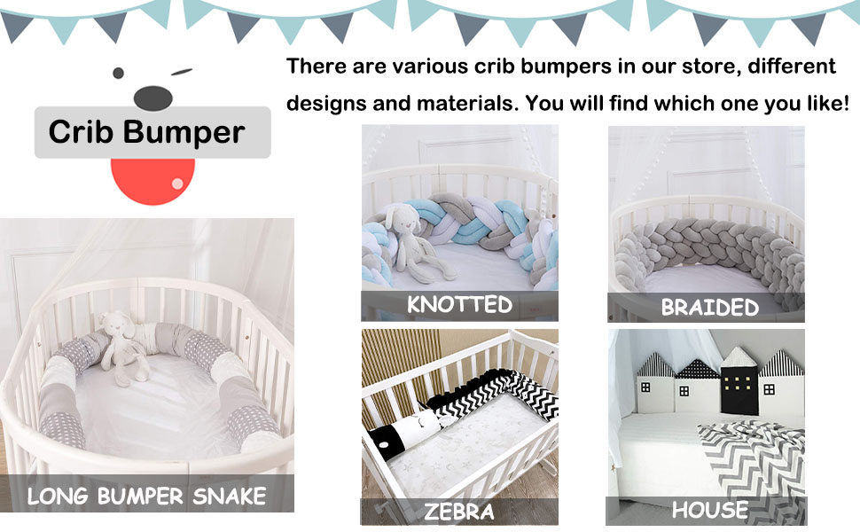 grey baby bed bumpers cribs snake set protector pink roll newborn gifts solid pillows babies