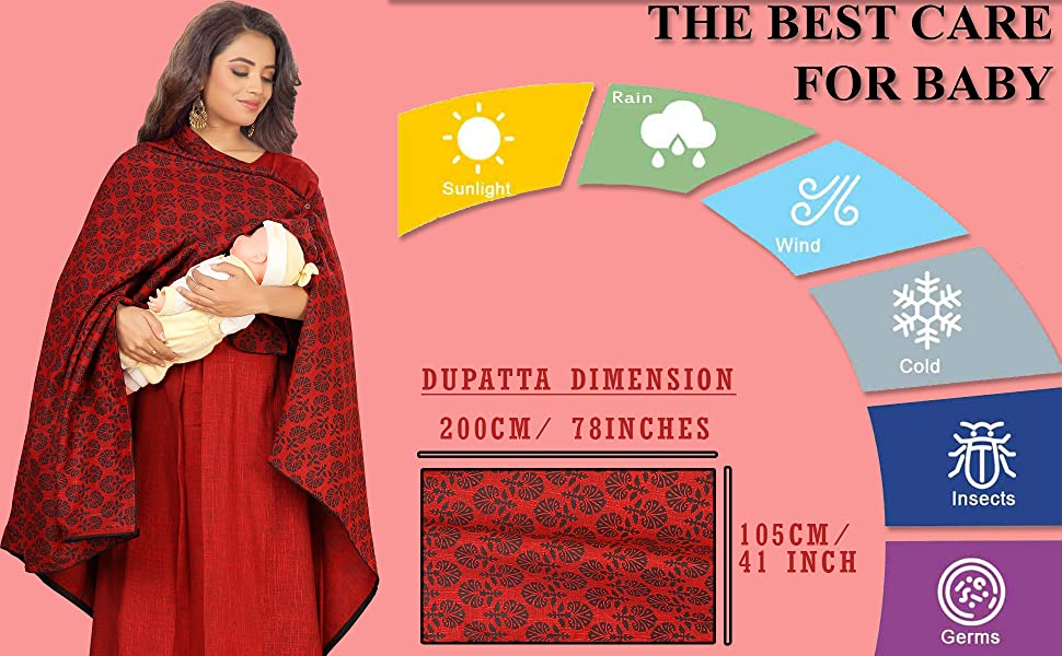 CEE18 FEEDING MATERNITY KURTA WITH NURSING DUPATTA/SHAWL/COVER
