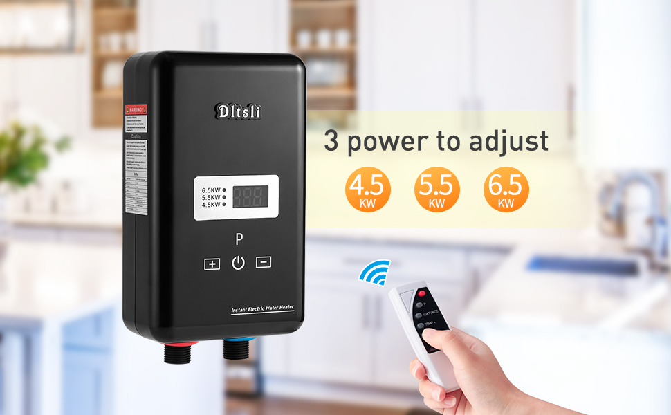 tankless electric instant water heater hot heating 220V 6500W