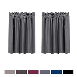 grey curtain blackout