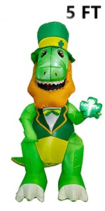 St. Patrick's Day Inflatable Dinosaur