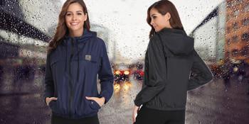 Q Abollria Women Rain Jacket Waterproof with Hood Lightweight Active Outdoor Windbreaker Raincoats