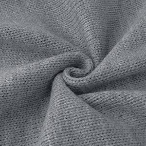 Jersey de manga larga con cuello en V y dobladillo irregular, para mujer