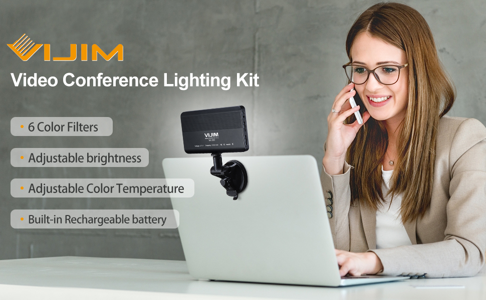 VIJIM MacBook Video Conference Lighting for Remote Working,Laptop Light for Video Conferencing Video Conference Lighting Kit Live Streaming Zoom Calls Self Broadcasting