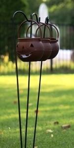 Ashman Adjustable Shepherd's Hooks, Black, Set of 4