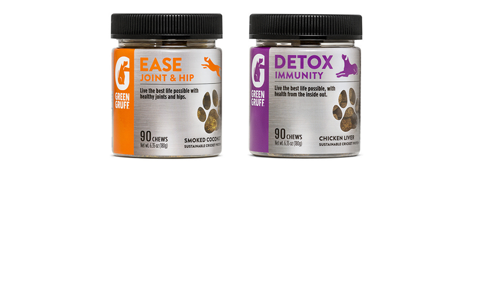 Green Gruff joint amp; hip supplements to help with your dogs mobility and immunity to stay energetic