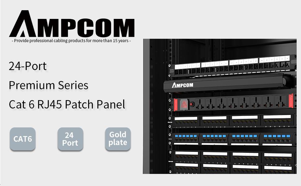 "24 Port CAT6 RJ-45 19/"" 1U UTP Patch Panel Networking Rack-Mount Steel Diagram"