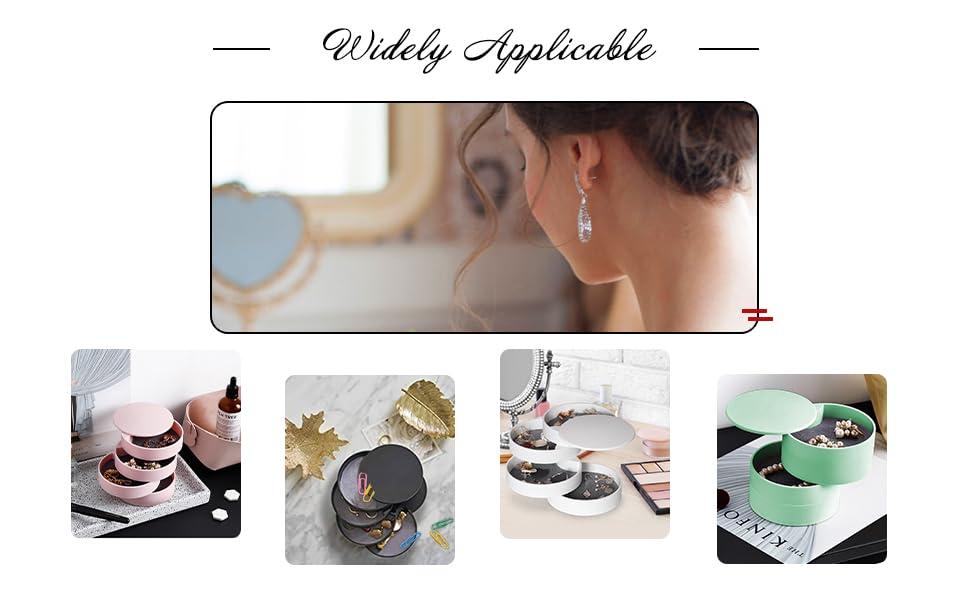 Carton Noir Support de rangement pour bijoux Black 7 Slot noir velours et verre Ivosmart 24/sections
