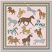 petit carre de soie motif cheval chic cadeau