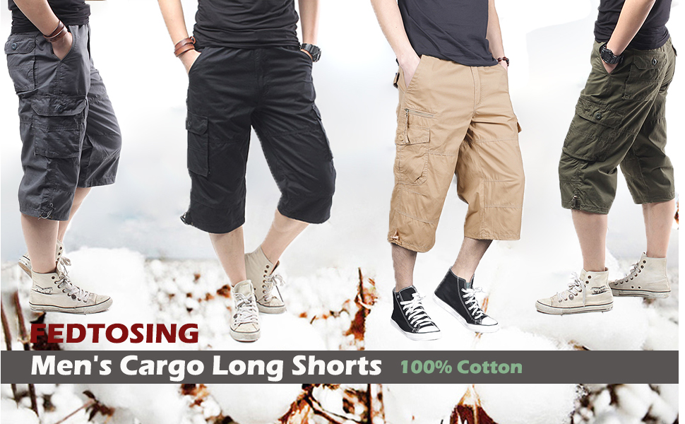 Men's Loose Fit Outdoor Cargo Shorts