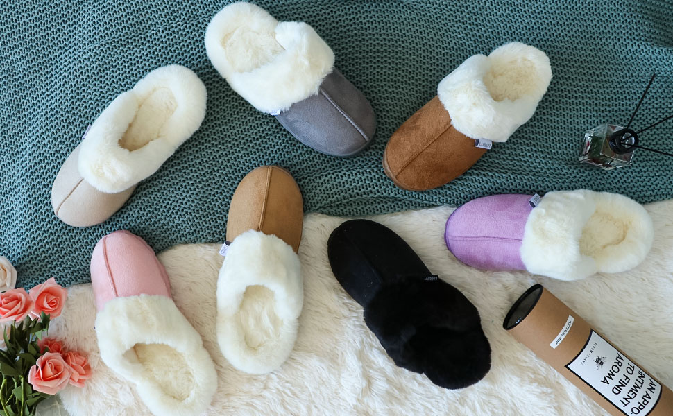 suede women slippers