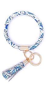 bracelet key chain blue