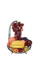Luyao Cesta de Almacenamiento de Frutas de Hierro Forjado de Tres Niveles Soporte de Frutas Estilo Cuna extra/íble Adornos creativos para el Almacenamiento en el hogar
