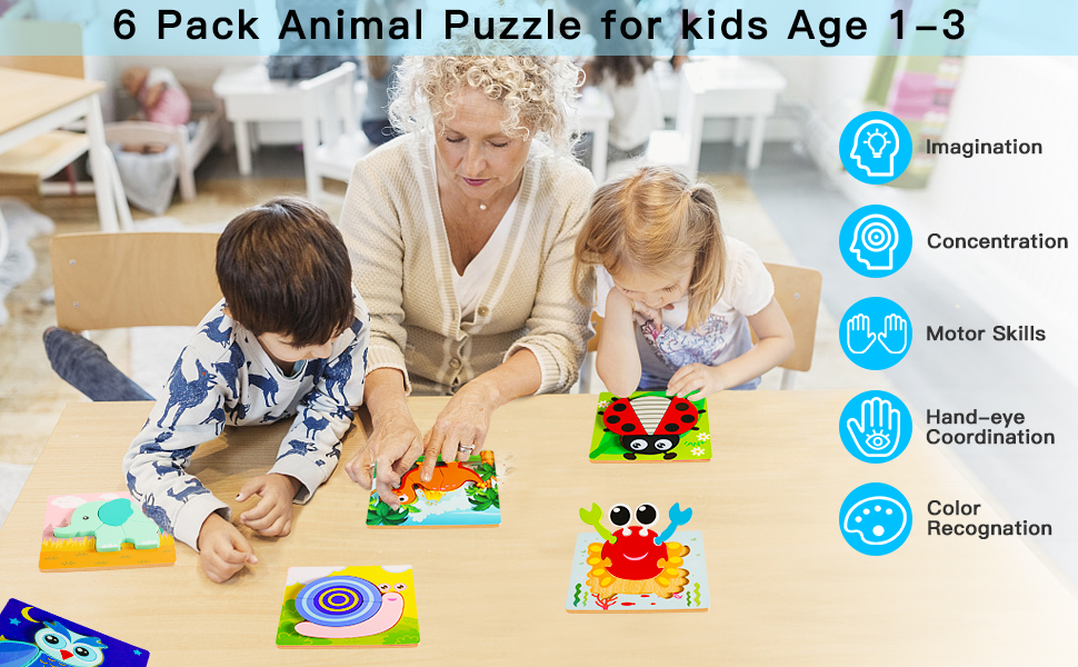 wooden animal jigsaw puzzles for toddlers