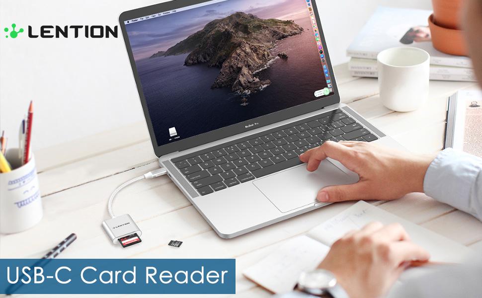 USB C to SD/Micro SD Card Reader
