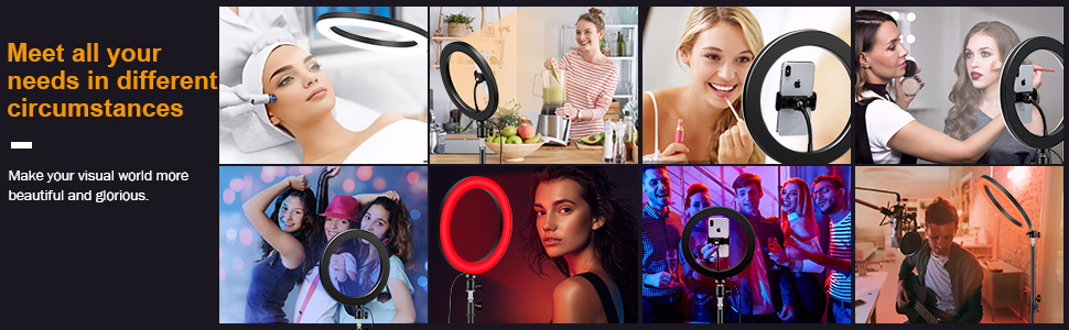ring light 18 inch selfie led big ring light with tripod stand mobile phone stand holder