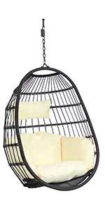 Penelope hanging egg chair