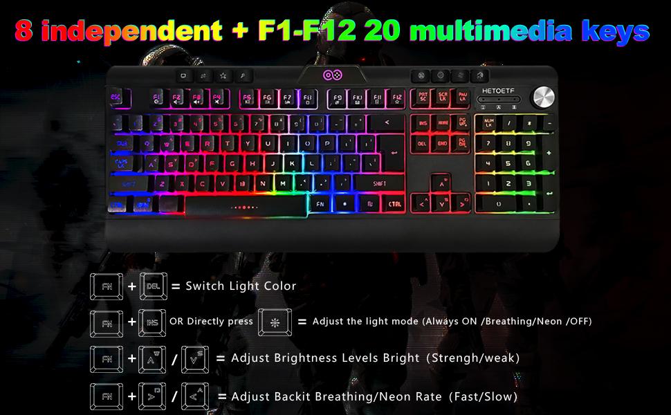 Multimedia control keys