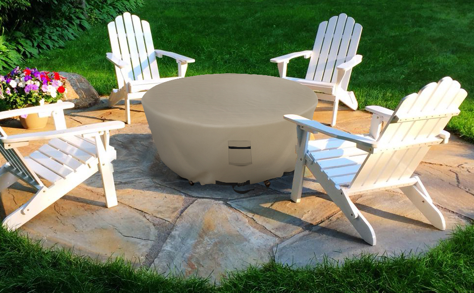 waterproof fire pit cover