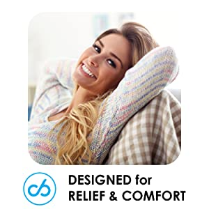 Designed for relief and comfort
