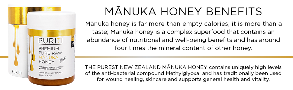 puriti genuine pure raw new zealand manuka honey umf mgo tested certified organic immune health