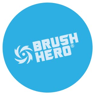 Brush Hero is the ultimate water powered brush for cleaning caked on grime.
