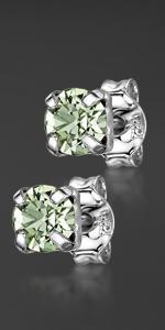 Orecchini quadrati Swarovski argento