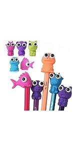 Mr. Pen- Erasers, Cap Erasers, 20 Pack, Animal Eraser Caps