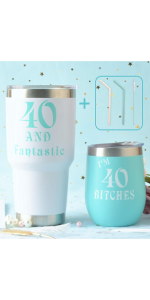 Amazon Com 40th Birthday Gift For Woman 40 Birthday Decorations For Her 40th Birthday Gift Ideas I M 40 Best Turning 40 Year Old Birthday Gift Ideas For Her 40th Birthday Cup 40