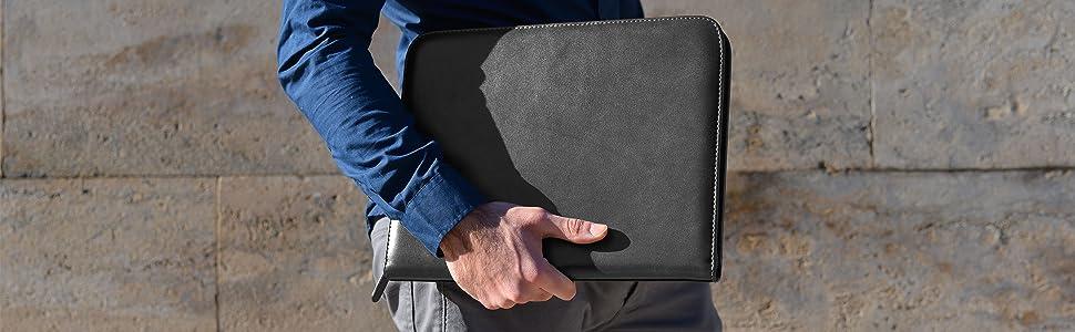 leather portfolio padfolio