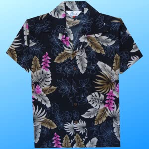 Classic Relax Fit Hawaiian Shirts for Boys