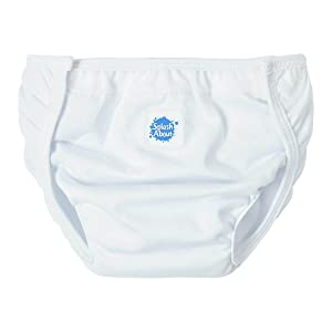 Reusable Swim Splash About Baby Neoprene Swim Diaper Large 6-14 Months, Navy Red Stripe