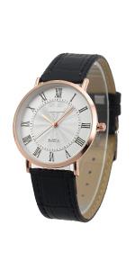 SIBOSUN Mens Leather Strap Wrist Watches