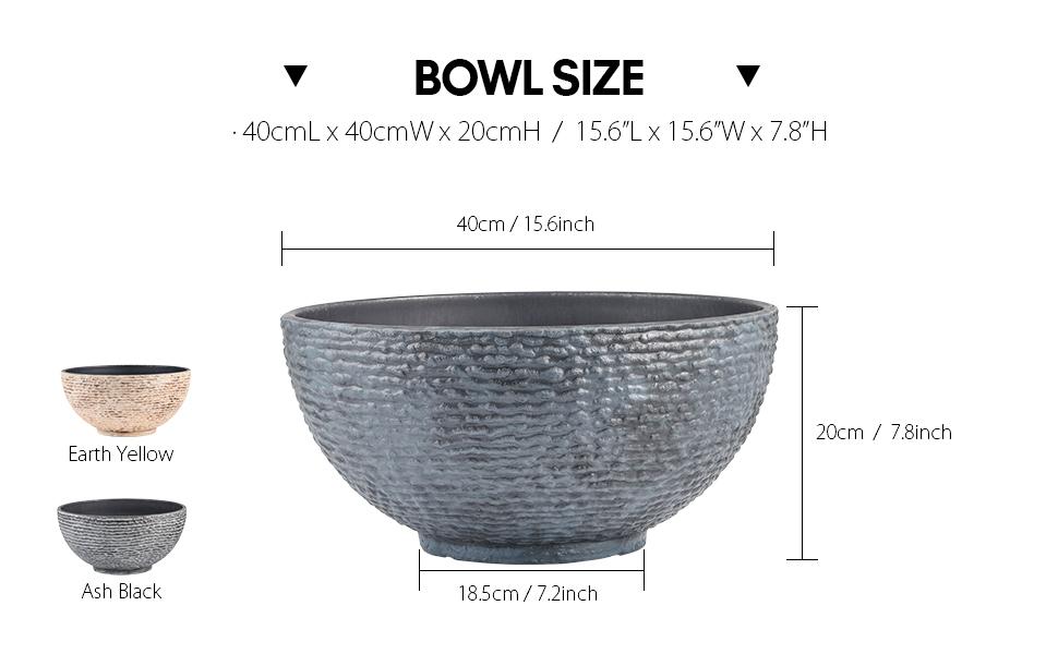 bowl size