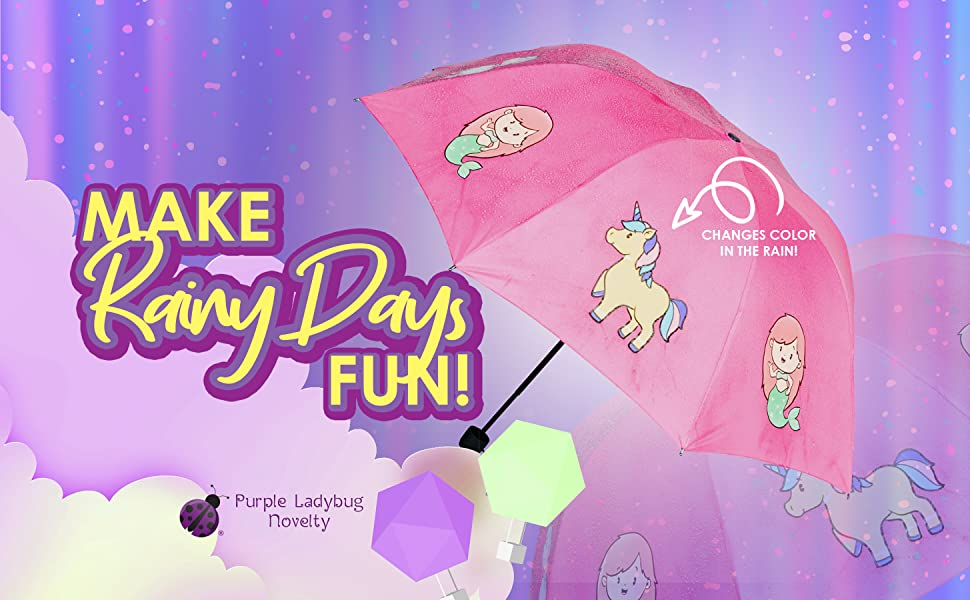 great gift for them rainy days back to school unicorn lilac childrens umbrella