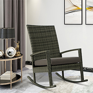 Wicker Rocking Chair with seat cushion