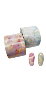 2 Rolls Pink Blue Marble Foils