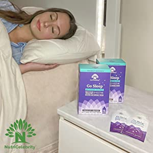 woman very calm and relaxed and going to sleep after taking Go Sleep