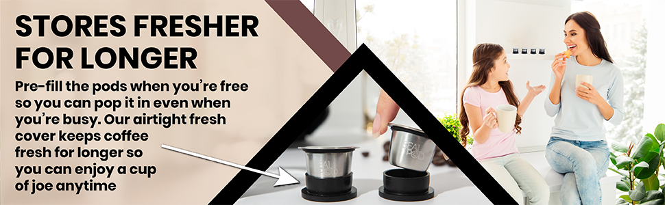 Store fresh coffee in your nespresso reusable capsule