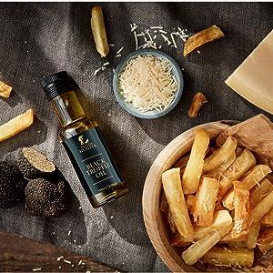 Oven Baked Truffle Parmesan Chips Black Truffle Oil Food Recipe Idea Seasoning Gourmet Food