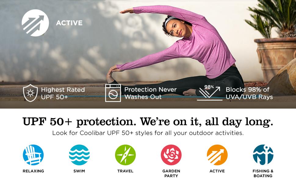 Womens Tempo Tee Sun Protective Coolibar UPF 50