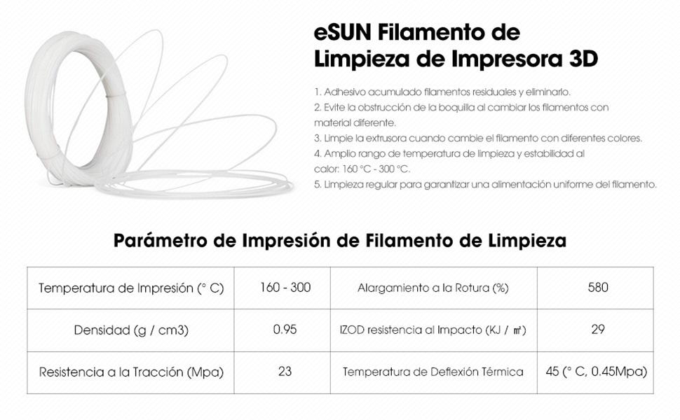 eSUN Cleaning Filamento de Impresora 3D, Filamento de Limpieza ...