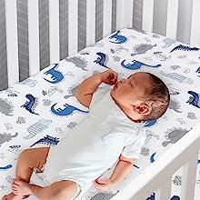 Baby Sleeping on crib sheet