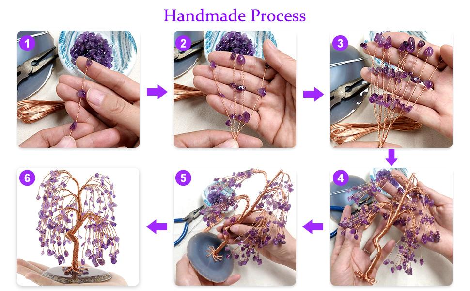 crystal tree handmade process