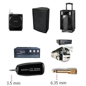 XIAOKOA 2.4G micrófono inalámbrico, la transmisión inalámbrica ...
